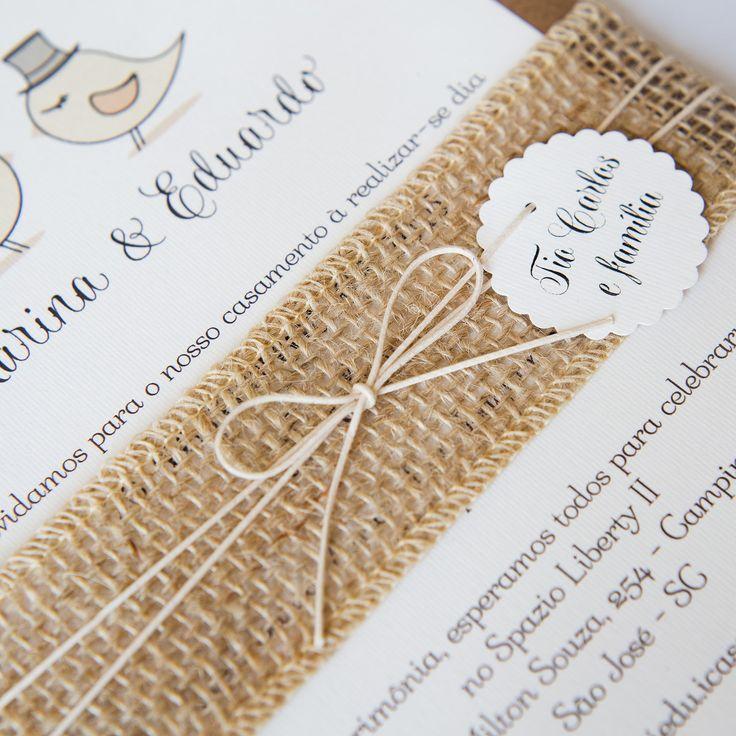Convite de Casamento - Love Birds