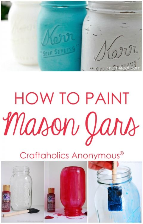 How to Paint Mason Jars. Lots of tips, tricks, and product recommendations.