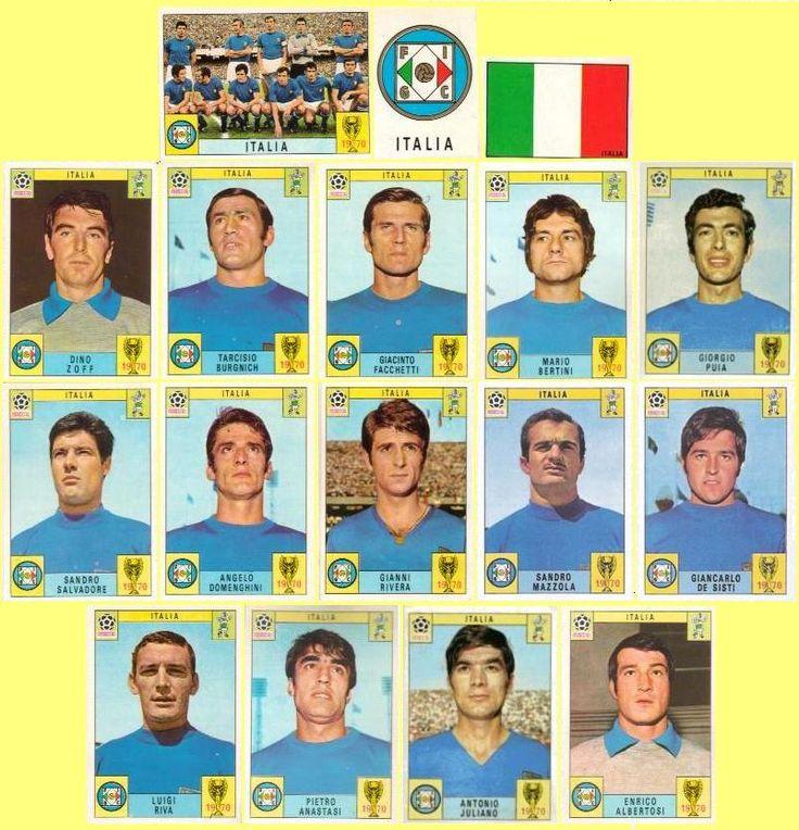 Panini stickers 1970 FIFA World Cup Mexico - Italy squad