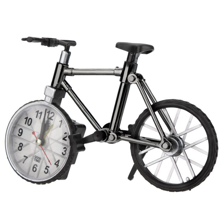 Bicycle Bike Model Clock Table Creative Alarm Clock Decoration Gift Craft