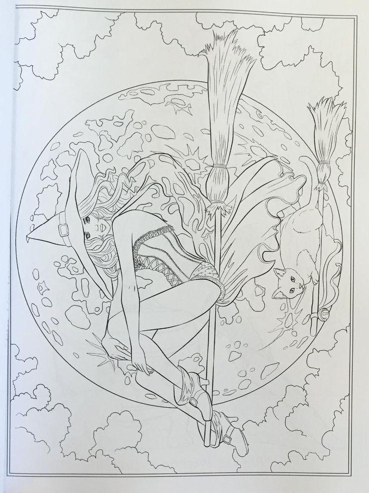 dark fantasy coloring pages - photo#28