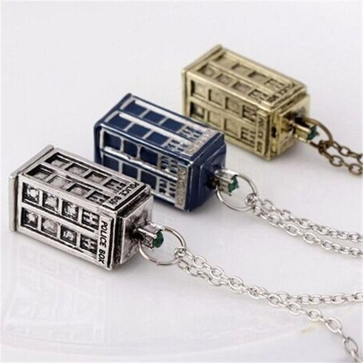 Dr. Mysterious House Necklace Doctor Who Pendant Necklace XL