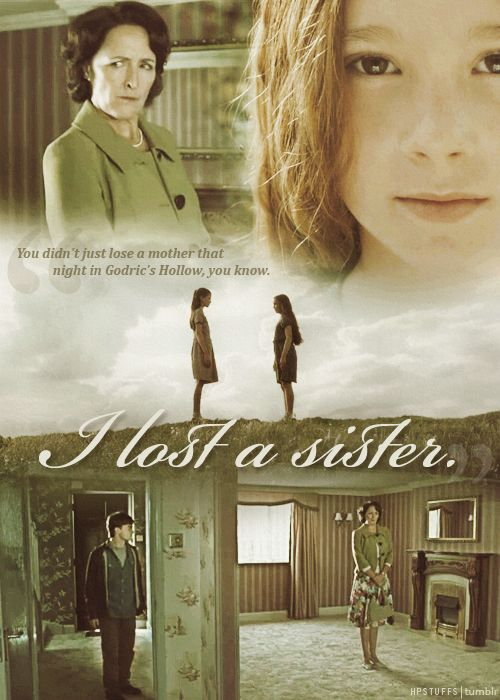 """You didn't just lose a mother that night in Godric's Hollow, you know. I lost a sister."""