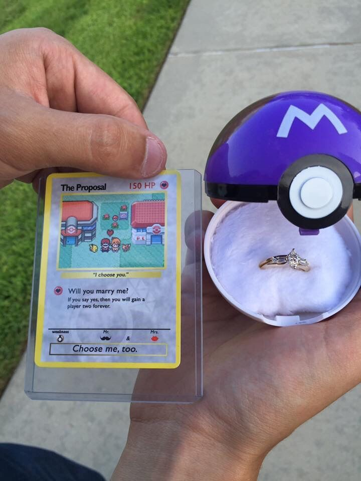Oh my gosh this is so cute, I can't decide if I want a Harry Potter proposal or a Pokémon one.