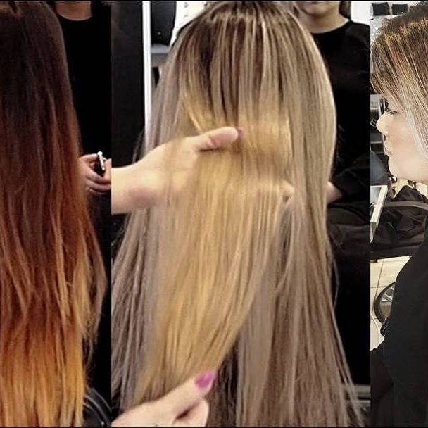 #tbt to kim's beautiful ASH BLONDE HAIR <3 we took her from brunette to blonde in a single day :) #ashblonde #blonde #blondehair #naturalhaircare #stylists #yychair #yeghair #beauty #bbloggers #nvennhairbeautybar