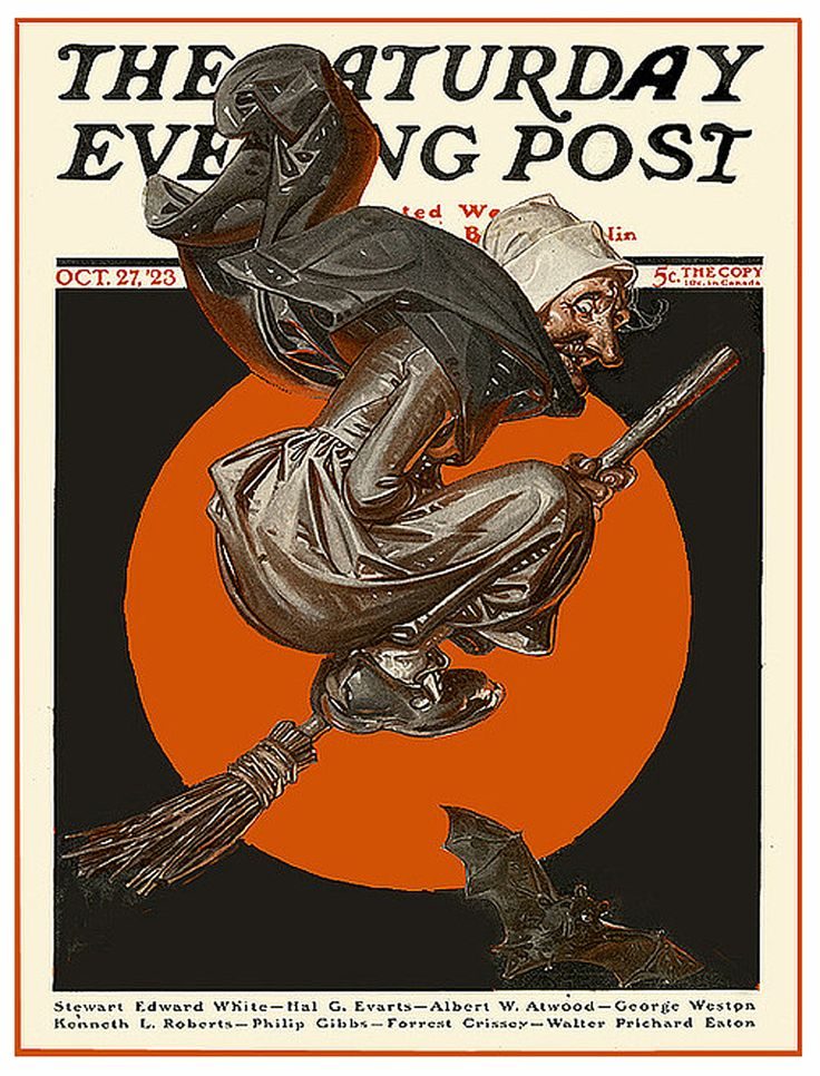 """""""Witch's Night Out"""" By Joseph Christian Leyendecker October 27, 1923"""