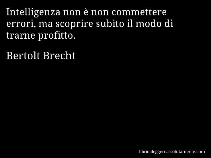 Cartolina con aforisma di Bertolt Brecht.