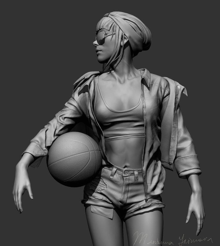 https://www.behance.net/gallery/34002744/Bascketball-Girl