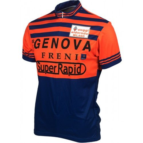 Team Genova Vintage Cycling Jersey by Retro