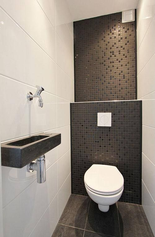 LIKES Touch of modern color & pattern just for small toilet wall (like a small accent for the bathroom if we go mostly white/bright colors)