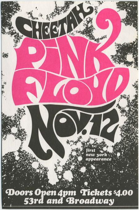 Pink Floyd poster for their first New York appearance, at the Cheetah club, 1967.  Worth $4 do you think?