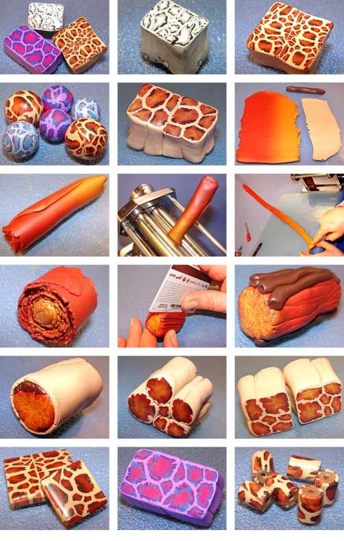 Polymer Clay Leopard Cane Tutorial