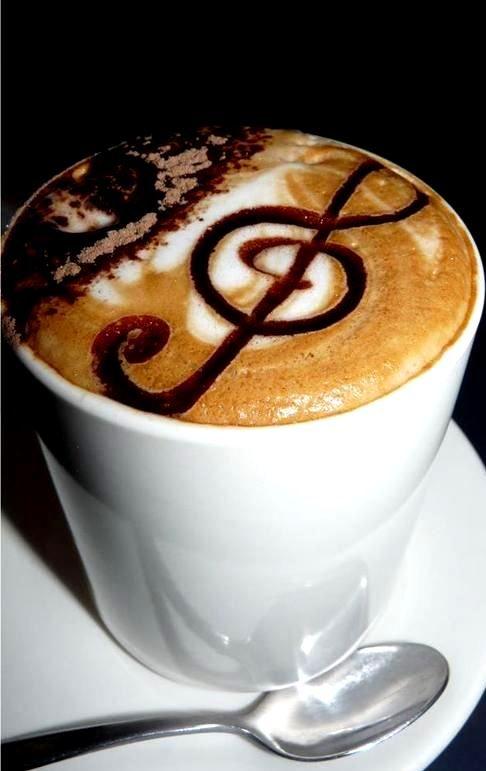 #Latteart :*¨¨*:Coffee♥Art:*¨¨*: #coffee #musical treble clef