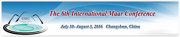 #geocongress IMC 2016 — 6th International Maar Conference Changchun, China 28 Jul 2016 → 06 Aug 2016. The Local Organizing Committee and the International Association of Volcanology and Chemistry of Earth´s Interior (IAVCEI) will be pleased to welcome you to the 6th International Maar Conference (IMC) in Changchun ( China) in July 30–August 3, 2016. The Conference will have 4 days of themed oral and poster sessions and...