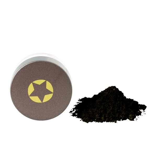 ECO Minerals Eye Shadow   Black Magic - This glamorous black shimmer can we applied dry or wet for greater color intensity. Use it to line your eyes for the perfect smokey look minus the toxins.
