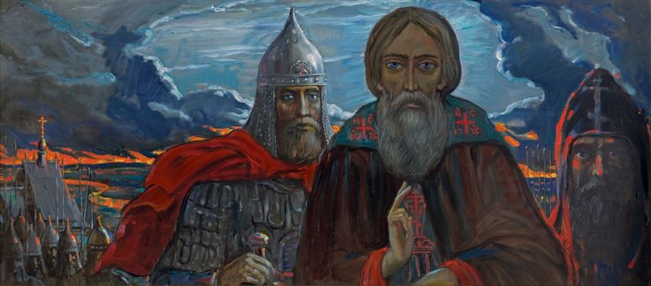 Eve. Before the Battle of Kulikovo by Ilya Glazunov, from the cycle The Kulikovo Field, 2004.