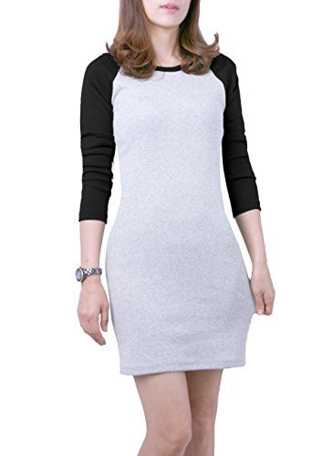 Majeclo Women's Crewneck Skirts Dinner Jacquard Dress (GR…