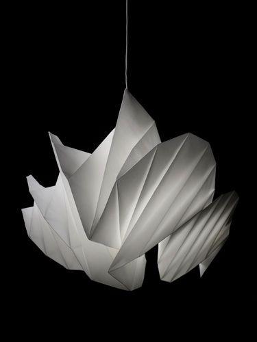 "Issey Miyake lamp. ""IN-EI ISSEY MIYAKE"" Lighting prototype. The material used is"