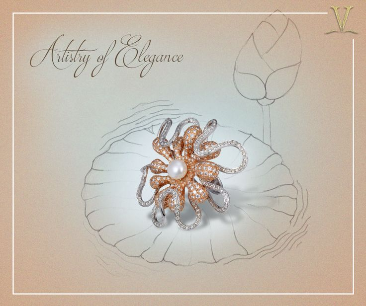 With each stone rested for a unique veneer, this lovely pearl ring designed especially for you. #ArtistryOfElegance