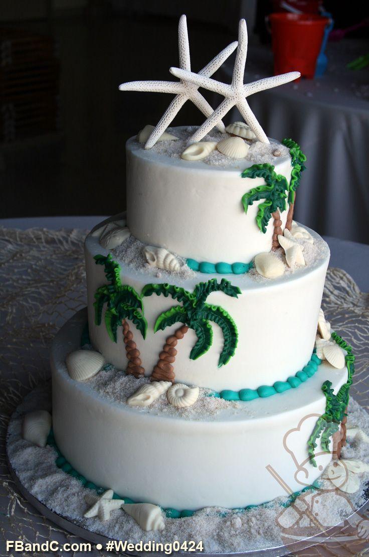 Design W 0424 Butter Cream Wedding Cake 12 Quot 9 Quot 6 Quot Serves 100 Buttercream Palm Trees