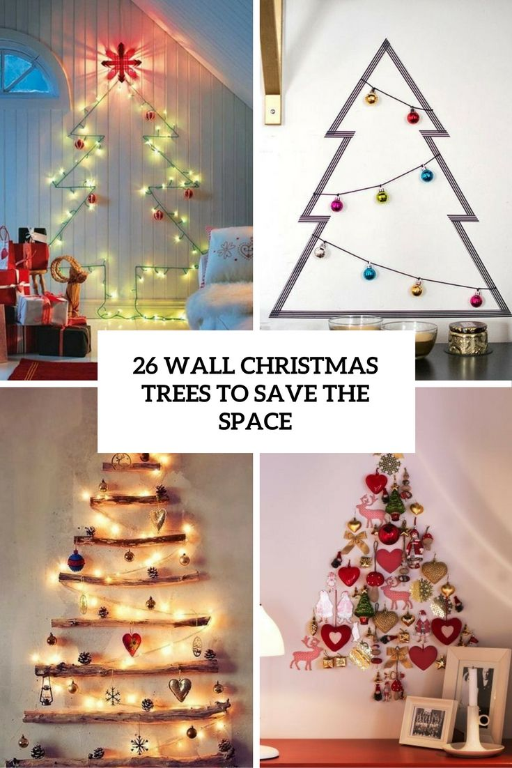 Christmas tree ideas for small spaces - Wall Christmas Trees Are Perfect For Small Spaces And Can Be Easily Diyed And Look Very Eye Catching So Let S Have A Look At The Most Popular Examples