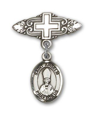 ReligiousObsession's Sterling Silver Baby Badge with St. Anselm of Canterbury Charm and Badge Pin with Cross -- Be sure to check out this awesome product. (This is an Amazon Affiliate link and I receive a commission for the sales)