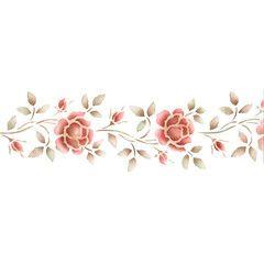 rose border stencils