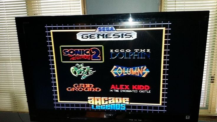 RADICA Sega Genesis 16 bit Plug N Play ~ Arcade legends 6-1 ~ SONIC 2, THE OOZE  #RADICA