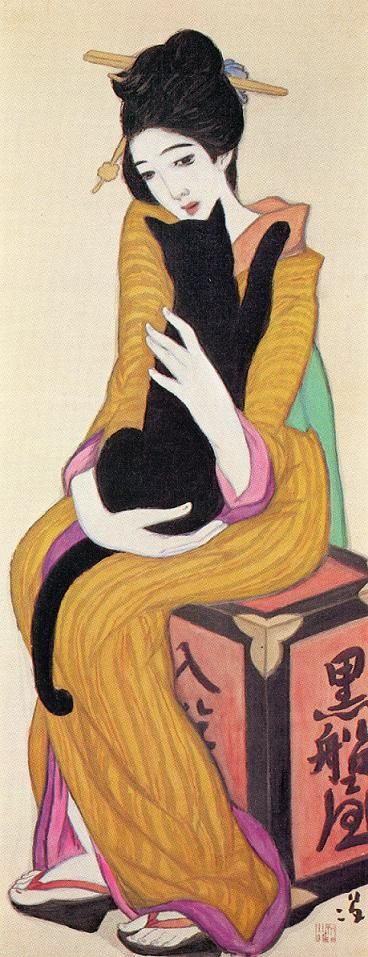 Title:Kurofuneya  Author:Yumeji Takehisa (1884-1934)  Source:Takehisa Yumeji Ikaho Memorial Museum