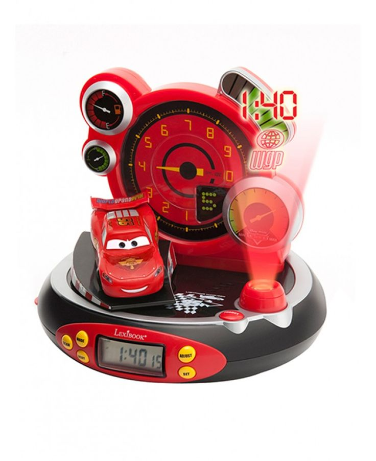 This cool Disney Cars Radio Alarm Clock will not only get your little one up in the morning, but will also help them drift off to sleep with its soothing nightlight function. The clock has handy added features such as snooze, an LCD display screen and built in FM radio and also features a fantastic 3D figure of Lightning McQueen that plays 4 different sound effects when pressed