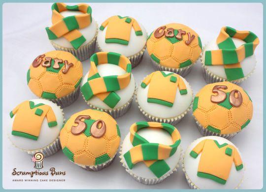 Football Cupcakes : Norwich City FC