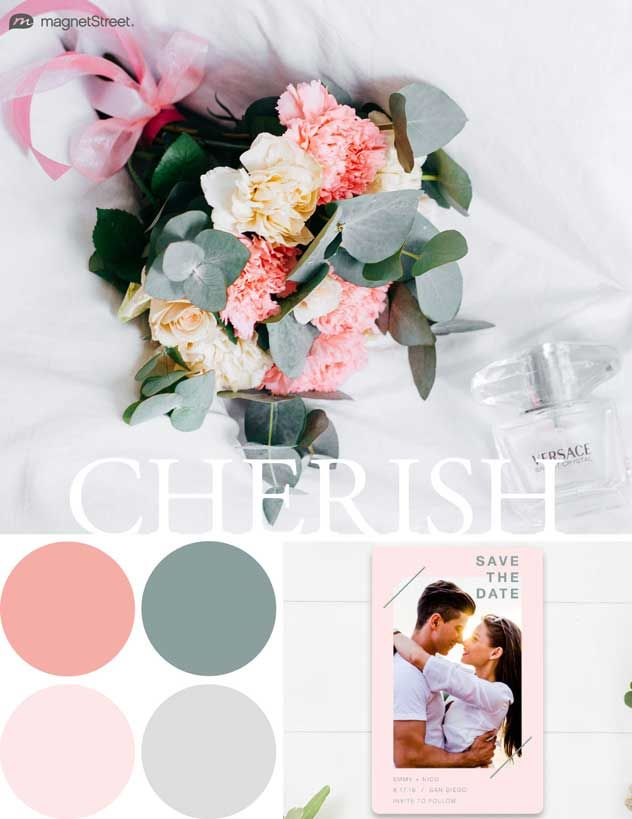 Gorgeous wedding colors for 2018. Look through trending wedding color palettes coming up this season, and find the best color schemes for your wedding.