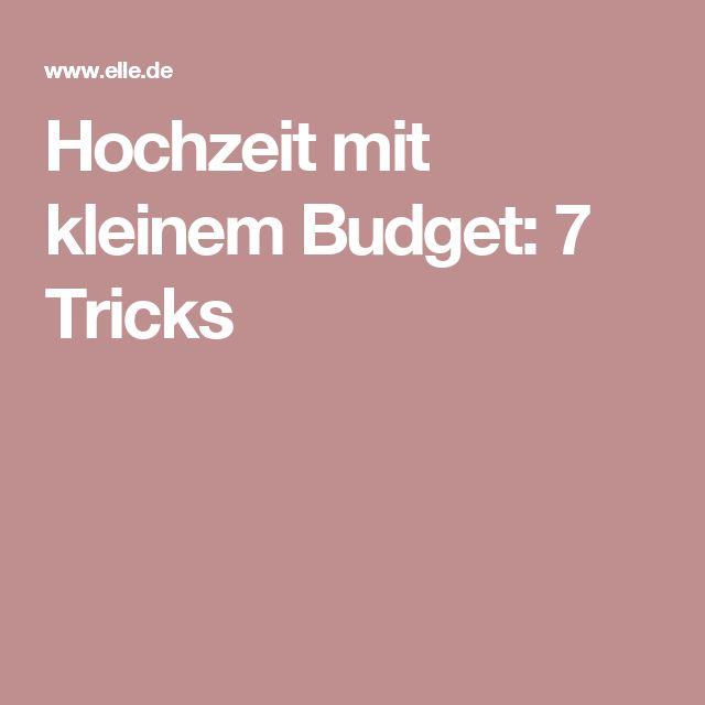 Hochzeit mit kleinem Budget: 7 Tricks