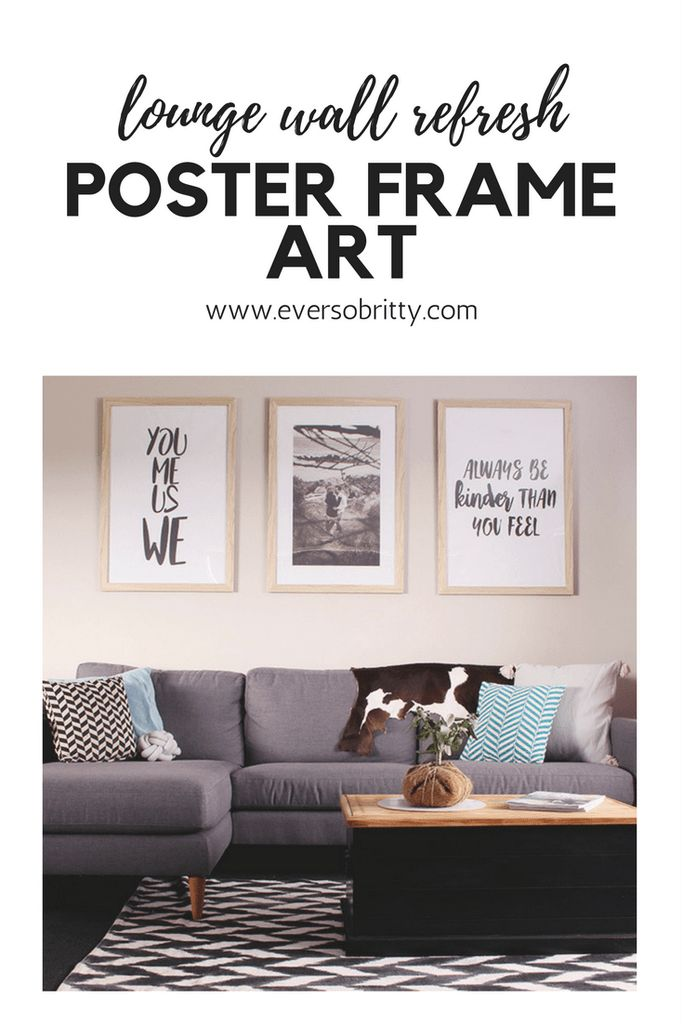 My new lounge suite definitely required some new art! I designed and printed some awesome poster art for these Kmart frames.