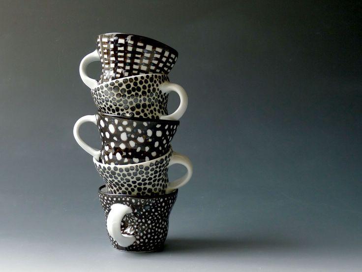 Dekorerte kaffekopper | ELISA HELLAND-HANSEN