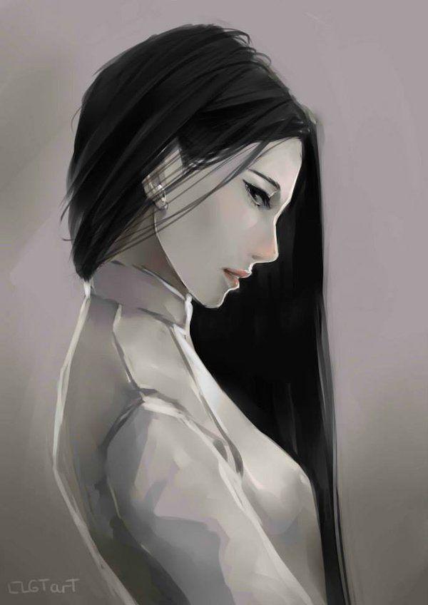 Black hair by clgtart