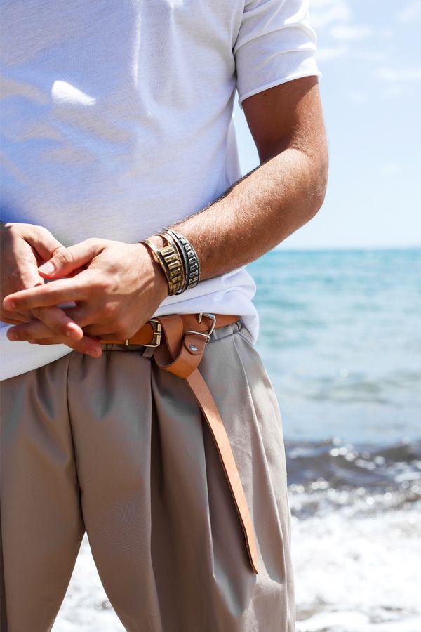 """Allighiero"" pleated shorts➕""Ovid"" handmade leather belt➕""Limbo"" handmade cuffs  #beach #summer #san #sand #sky #wave #accesories #leather #cuffs #jewelry #pleated #shorts #mood #potd #ootd #dantemen #dantemenswear #blue #beige #white #outfitoftheday #homagetomanhood #madeformen #menswear #menstyle #men #greece #boheme"