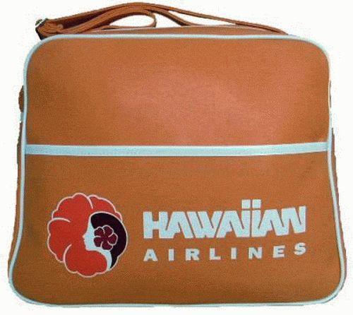 hawaiian airlines vintage flight bag