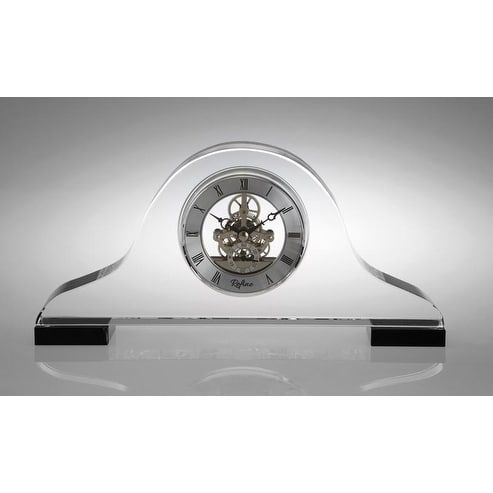Elegance Napoleon Crystal Skeleton Clock, Clear (Lead Crystal)