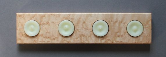 Birdseye Maple Candle Holder Tea Candle Display by GruetWoodworks