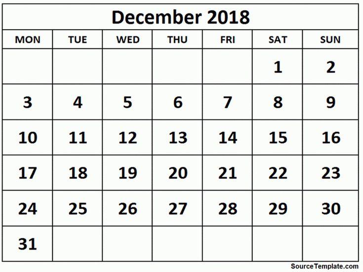 December 2018 Calendar with Holidays     https://sourcetemplate.com/december-2018-calendar