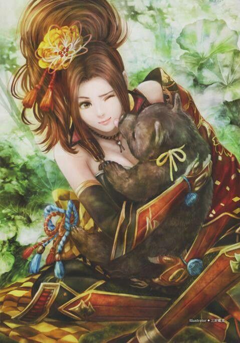 Princess Kai, sister of Po, daughter of the Snow Queen.