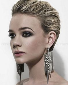 short hairstyles - slicked back