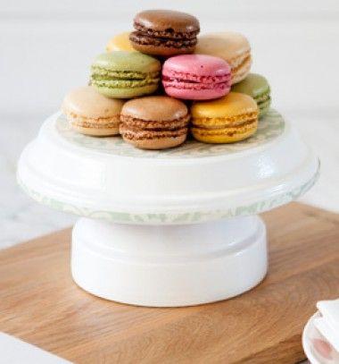 Cake stand from a terra cotta pot // Sütemény kínáló terra kotta cserépből és alátétből // Mindy - craft & DIY tutorial collection