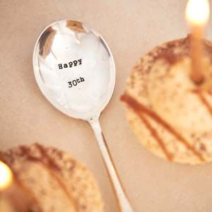 'Happy 30th' Vintage Spoon | Buy Now