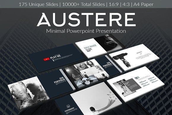 Austere - Minimal Presentation by Aesthetic Art & Design on @creativemarket