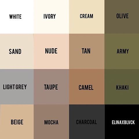 """Repost cause neutrals  Pick any three colors in this palette and tell me they don't match - I swear you can't! The power of a neutral wardrobe ✔️ I…"""