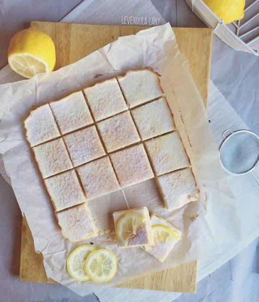 Lemon bar, az amerikai citromos süti