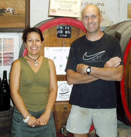 Two brilliant wine makers from Chateauneuf du Pape and very gracious hosts.