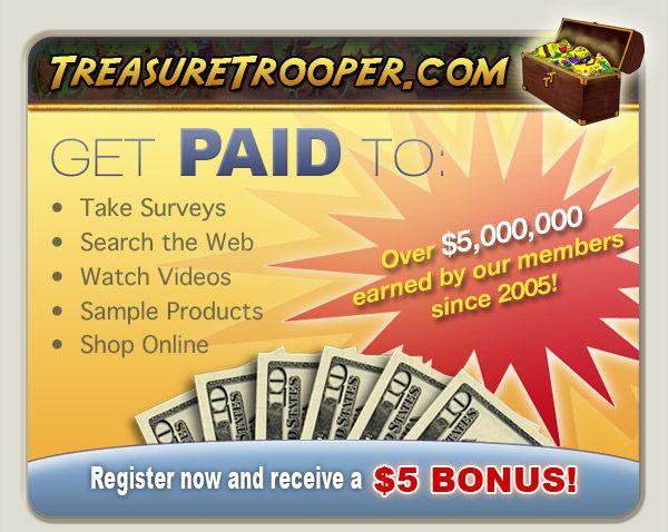 Treasure Trooper - Surveys for cash !